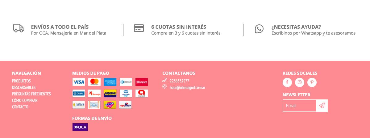 Canales de contacto E-commerce
