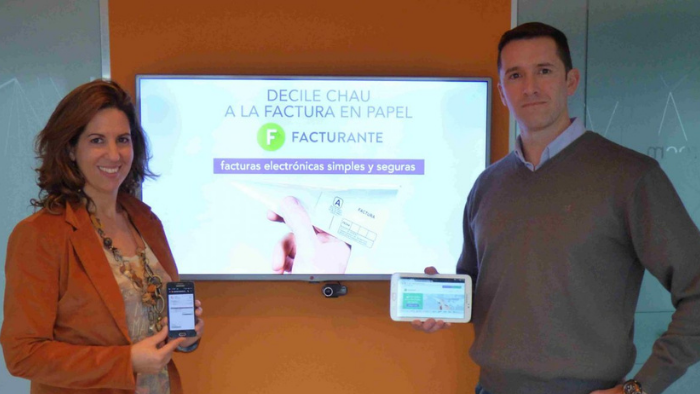 Lorena Comino y Daniel Pili, cofundadores de Facturante